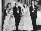 Queen Elizabeth II, President and Mrs. Eisenhower, and Prince Philip before a State Dinner Photo