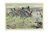 Swords of France, Grenadier Guards Charging Reproduction procédé giclée par Jacques de Breville
