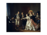 The Wedding Contract Interrupted. 1780 Giclee Print by Michel Garnier