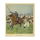 Madagascar War 1885-95, Com. Lentonnet Leading Charge at Tsarasaotra in 1895 Giclee Print by Louis Bombled