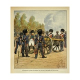 Battle of Montereau. Napoleon Himself Directs the Cannons of the Guard Giclee Print by Louis Bombled
