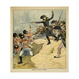 Bonaparte Was Wounded in the Thigh During the Siege of Toulon Giclee Print by Louis Bombled
