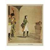 Napoleon at the Tomb of Frederick II of Prussia in Potsdam in 1806 Giclee Print by Louis Bombled