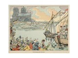 Paris Resupplied During Henri Iv's Siege Giclee Print by Jacques de Breville