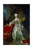 Infanta Maria Teresa Rafaela of Spain, Dauphine of France. 1744 Giclée-Druck von Louis Michel Van Loo