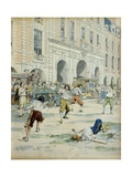 Duel Between Boutteville and Beuvron on Place Royale in Paris at Noon Giclee Print by Maurice Leloir
