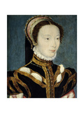Jeanne D'Halluin Lady-In-Waiting of the Queen Catherine De Medici Ca. 1550 Giclee Print by Corneille de Lyon