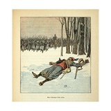 Franco-German War, Heroic Death of an Algerian Tirailleur in Dec. 1870 Giclee Print by Louis Bombled
