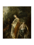 The Bather Giclee Print by Nicolas Lancret
