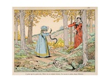 Four Years Old, Henry IV Kills a Huge Snake Giclee Print by Jacques de Breville
