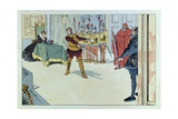 Swords of France, a Play in the 19th Century Reproduction procédé giclée par Jacques de Breville