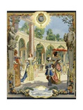Louis XIV Visiting the Works of Versailles: the Colonnade Grove Giclee Print by Maurice Leloir