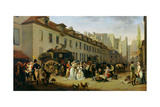 Arrival of a Stagecoach at Terminal, Rue Notre-Dame-Des-Victoires, Paris Giclee Print by Louis Leopold Boilly