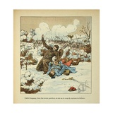 Franco-German War, Father Fouqueray Killed on the Body of the Capt. Bellevue Giclee Print by Louis Bombled