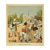 Madagascar War 1885-95, Construction of a Road by Engineers, in Madagascar, 1895 Giclee Print by Louis Bombled