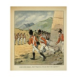Exiled Emperor Napoleon Saluted by the British Garrison of Saint Helena Giclee Print by Louis Bombled