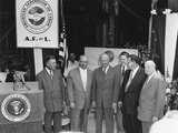 President Eisenhower with George Meany (Left of Dde) and Other Officers of the Afl-Cio Labor Union Photo