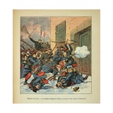 Franco-German War, Battle of Droue. Gen. Gougeard Charging with His Infantry Giclee Print by Louis Bombled