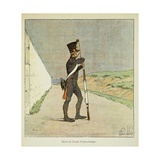 Napoleonic Wars, Student of Ecole Polytechnique on Guard Duty Giclee Print by Louis Bombled