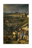 Arrival of the French Army in Mons, Lead by Gen. Dumouriez, Nov. 7, 1792 Giclee Print by Joseph Louis Hippolyte Bellange