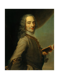 Voltaire, 1728, after Maurice Quentin De La Tour, French Giclee Print by Maurice Quentin de La Tour