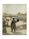 Napoleon I Bids Farewell at Fontainebleau Giclee Print by Jacques de Breville