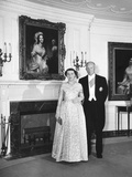 President and Mamie Eisenhower before a Dinner at the Ethiopian Embassy in Honor of Haile Selassie Photo