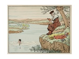 Education in the 16th Century: Swimming Giclee Print by Jacques de Breville