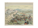 Henry IV Storms in Suburb of Paris in 1590 Giclee Print by Jacques de Breville