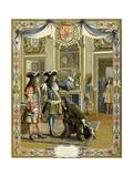 Duke of Anjou Proclaimed King Philip V of Spain, Nov. 1, 1700 Giclee Print by Maurice Leloir