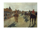 The Parade, also known as Race Horses in Front of the Tribunes, Ca. 1866-68 Giclee Print by Edgar Degas
