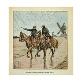 Franco-German War, General D'Aurelle De Palatines and His Aide-De-Camp Giclee Print by Louis Bombled
