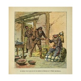 Franco-German War, Dr Libert Treats of Infantryman from Calvados by Bleeding Him Giclee Print by Louis Bombled