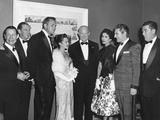 President Eisenhower with Celebrities at the White House Photographers Dinner at the Statler Hotel Photo