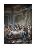 The Oyster Lunch. 1735 Giclee Print by Jean Francois de Troy
