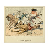 Dragoons Sergeant Captured an Enemy Standard, Battle of Loube, April 8, 1700 Giclee Print by Louis Bombled