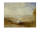 Landscape with a River and a Bay in the Distance Giclee Print by Joseph Mallord William Turner