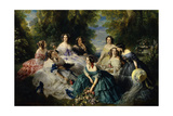 Empress Eugenie Surrounded by Ladies-In-Waiting, 1855 Giclee Print by Franz Xaver Winterhalter