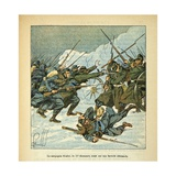 Franco-German War, French 11th Chasseurs Regiment Attacking a German Battery Giclee Print by Louis Bombled