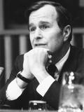 U.N. Ambassador George Bush Presented His Credentials to Secretary General U Thant. March 1, 1971 Photo