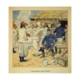 Madagascar War 1885-95, Cantonment of Algerian Regiment, 1895 Giclee Print by Louis Bombled