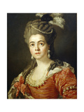 Adrienne Lecouvreur. Mistress of Marshal Saxe. Ca. 1725. French Giclee Print