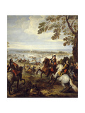 Army of Louis XIV Crossing the Rhine, June 12th, 1672 Giclee Print by Joseph Parrocel