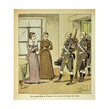 Women at Verdun and the Soldiers of the Conde Army Giclee Print by Louis Bombled