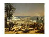 Battle of Aboukir, July 27, 1799. Napoleon's Egyptian Expedition Giclee Print by Louis Francois Lejeune