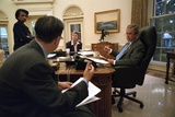 President George W. Bush Preparing for His Sept. 20, 2001 Speech to a Joint Session of Congress Photo