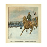 Franco-German War, Gen. Chanzy and Staff Review Battle Lines on Dec. 8, 1870 Giclee Print by Louis Bombled
