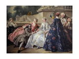 Declaration of Love. 1731 Giclee Print by Jean Francois de Troy