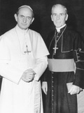 Fulton J. Sheen Following a Private Audience Pope Paul VI at the Vatican, March 17, 1971 Photographie