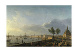 Bordeaux Harbor and the City Walls Giclee Print by Joseph Vernet